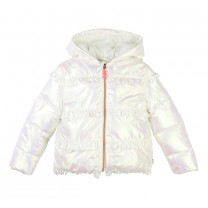 White Pearlised Puffer Jacket