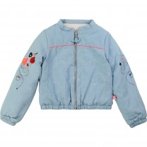 Reversible Bomber Denim Jacket