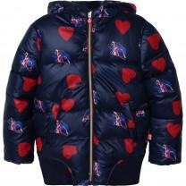 Navy Roller Skate & Heart Puffer Jacket