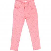 Neon Pink Bow Skinny Pants