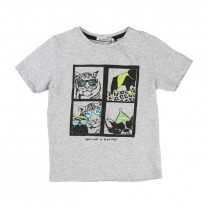 Grey Tiger & Dog T-Shirt