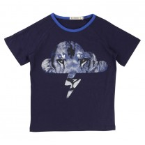Blue Logo Lion T-Shirt