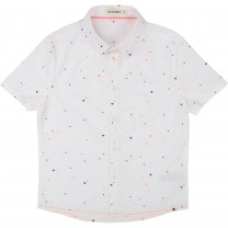White Pattern Cotton Shirt