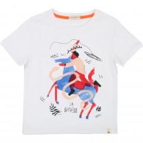 White The Battle Cotton T-Shirt