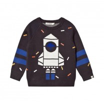 Black Rocket Knit Sweater