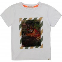 White Graphic Hologram T-shirt