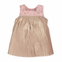 Gold Pleated Dress