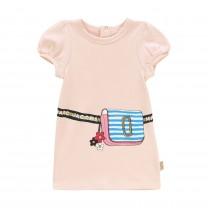 Pink Printed Snapshot Dress