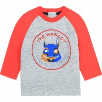 Grey & Red Marc Mascot T-Shirt