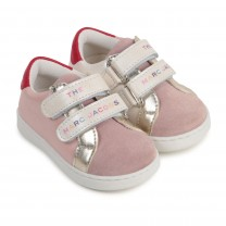Baby Pink Color-Block Sneakers