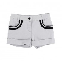 White Stripes Pocket Shorts (2-5 years)