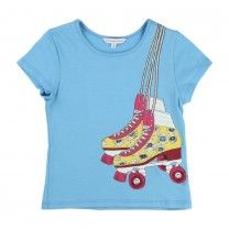 Baby Blue T-Shirt with Roller Blade