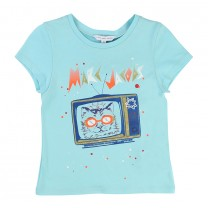 Turquoise Blue Cat T-Shirt