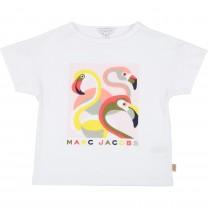 White Swan Motif T-shirt