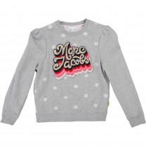 Girls Grey Cotton Sweatshirt