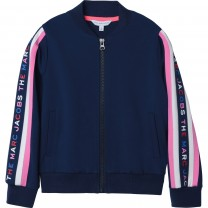 Navy Side Stripe Logo Jacket