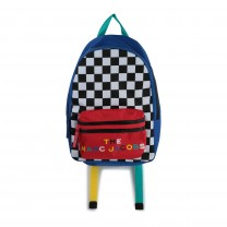 Checkered Marc Logo Backpack