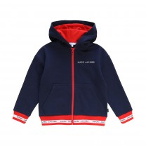 Navy and Red Logo Hoodie