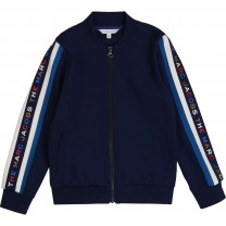 Navy and White Logo Jacket