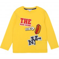 Yellow New York Patched T-Shirt