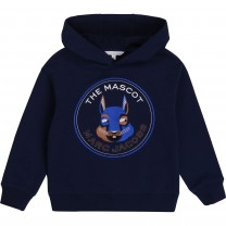 Navy Marc Mascot Hooded Sweater