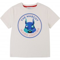 White and Blue Marc Mascot T-Shirt