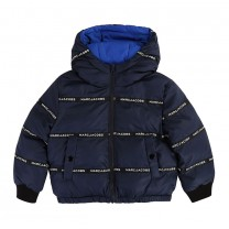 Navy Blue Logo Reversible Jacket