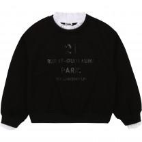 Black Ruffled Collar Sweater (14 - 16 years)