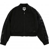 Black Logo Bomber Jacket (14 - 16 years)