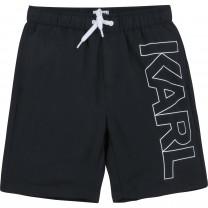 Black Side Logo Swim Shorts