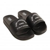 Black Logo Sandals (36 - 39)