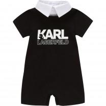 Baby Black Karl Romper