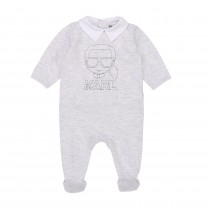 Light Grey Karl Babysuit