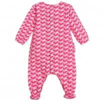 Girls Pink Hearts Babygrow