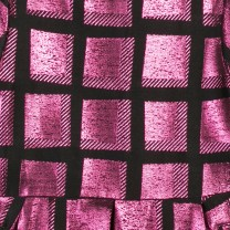 Fuchsia Check Jacquard Dress