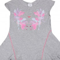 Misty Grey Floral Print Dress