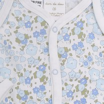 Long Sleeve Onesie Bouquet Print