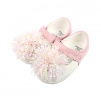 Pink Strap Frills Shoes