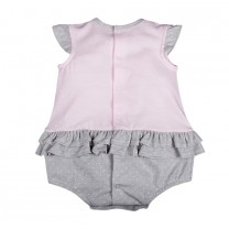 Pink and Grey Bunny Rabbit Babysuit
