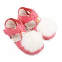 Pink Furr Swan Shoes