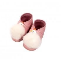 Pink White Swan Pre-walker Shoes
