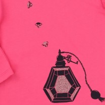 Pink Bow & Perfume Long T-Shirt