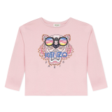 Pink Tiger Glasses Long Sleeve T-Shirt  (2 - 8 years)