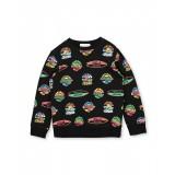Black Graphic Sweater