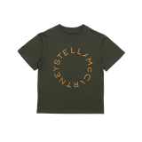 Olive Print Cotton T-Shirt