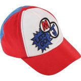 Red and Blue Graphic Cap