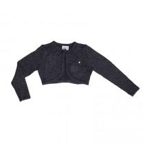 Dark Grey Knitted Bolero Cardigan