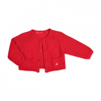 Red Knitted Cardigan