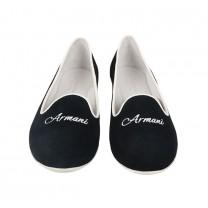 White Logo Flat Shoes