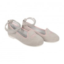 White Ankle Strapped Slip-On Shoes (Size 26-30)